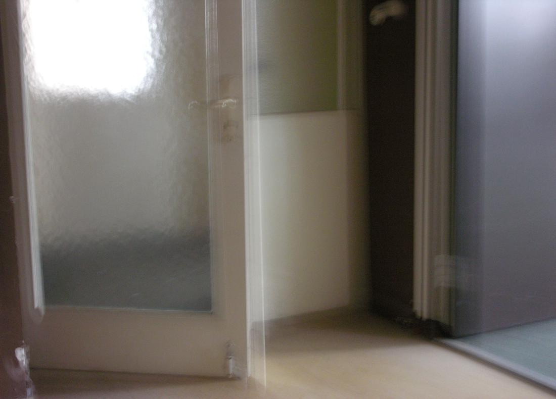"""Living rooms """"room to move"""", Lightbrush on Aluminium 70 x 50 cm - Tilmann Krieg - 2007"""